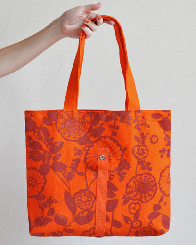 Orange Roll Up Tote