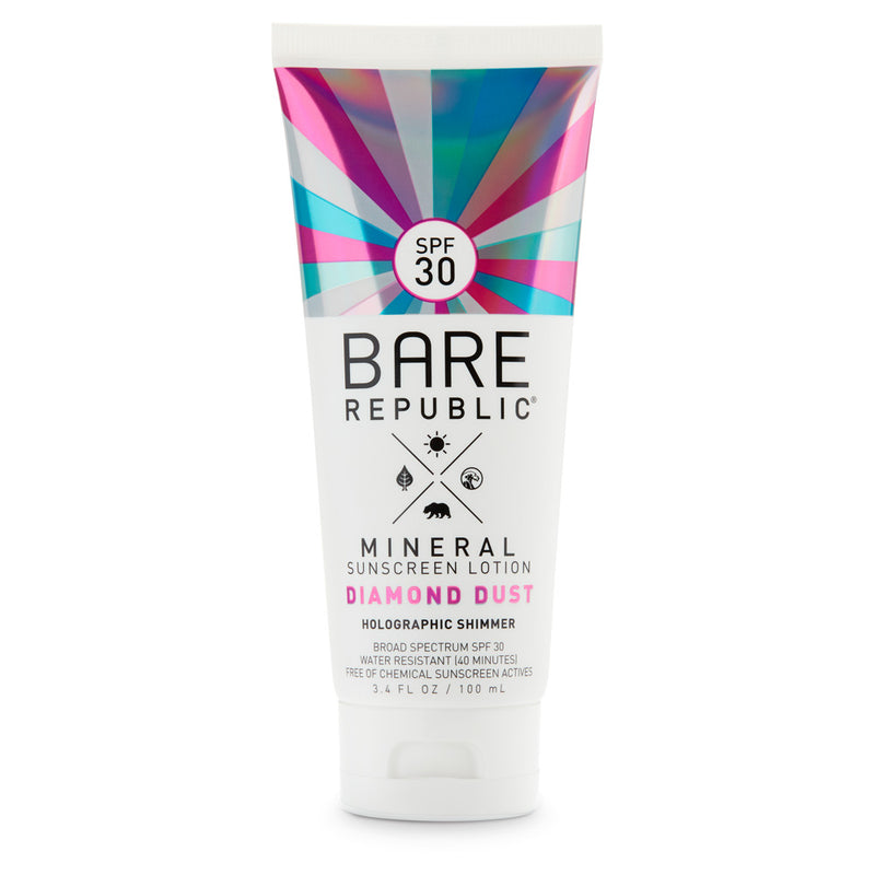 Mineral SPF 30 Holographic Shimmer Sunscreen Lotion - Diamond Dust