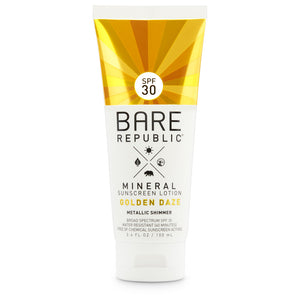 Mineral SPF 30 Gold Shimmer Sunscreen Lotion - Golden Daze