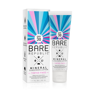 Mineral SPF 30 Tinted Face Sunscreen Lotion - Bare Republic