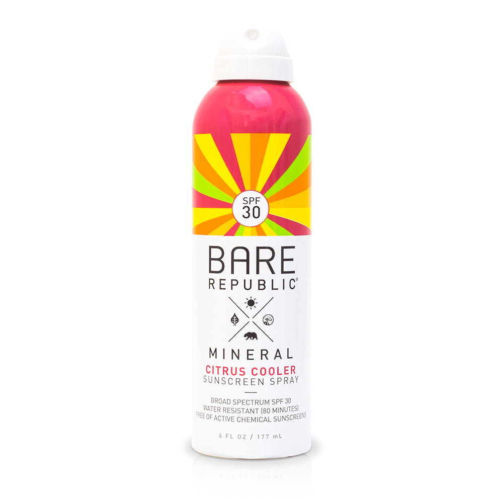 Mineral SPF 30 Sport Citrus Cooler Sunscreen Spray - Bare Republic