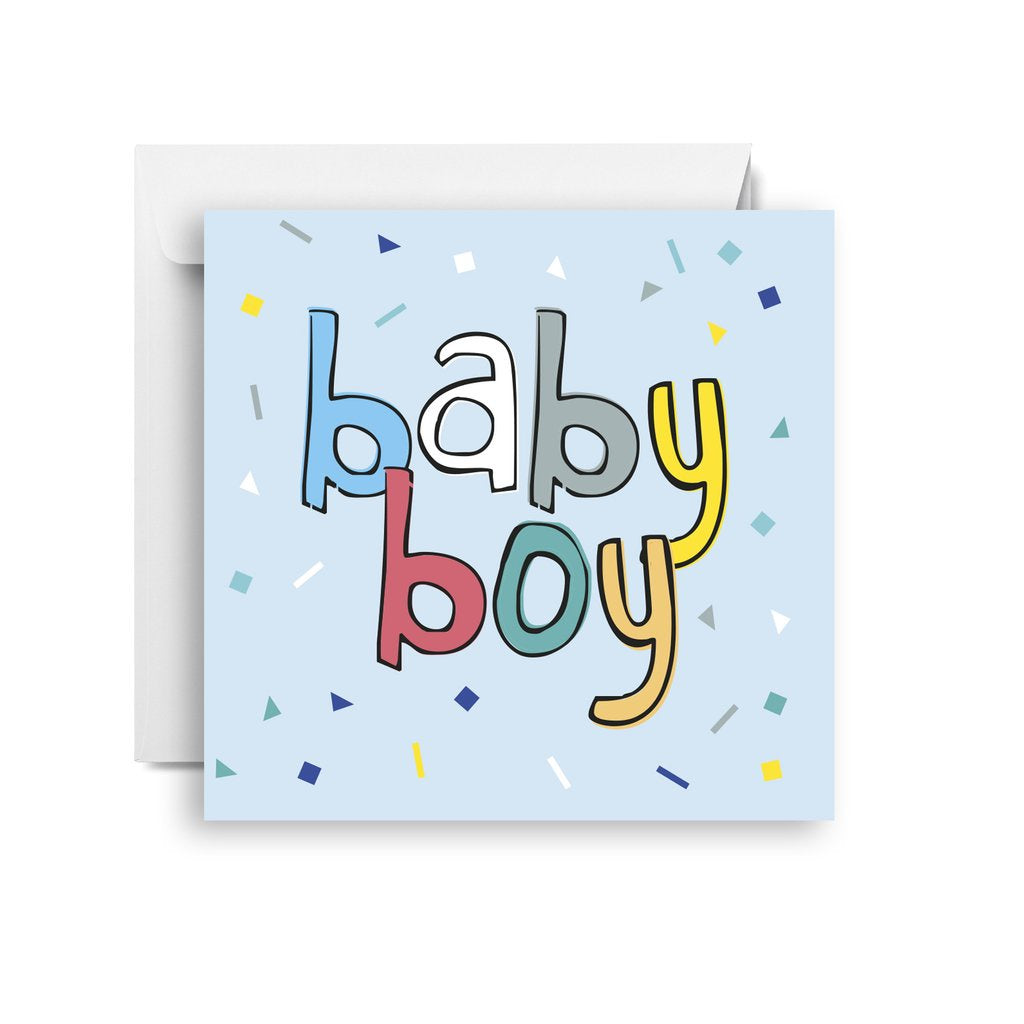 Sprout and Sparrow Baby boy confetti (small) Card