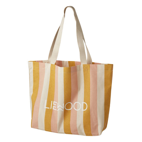 LIEWOOD  Tote Bag Big - Stripe: Peach/sandy/yellow mellow