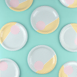 My Little Day paper plates - pastel stripes