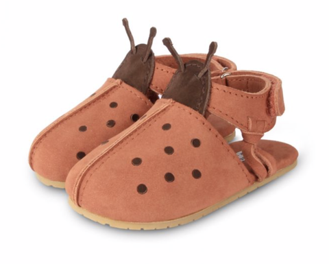 DONSJE LADY BIRD Walnut Nubuck BABY FOOTWEAR SHOES