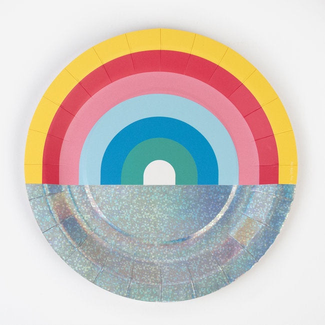 MY LITTLE DAY paper plates - rainbow