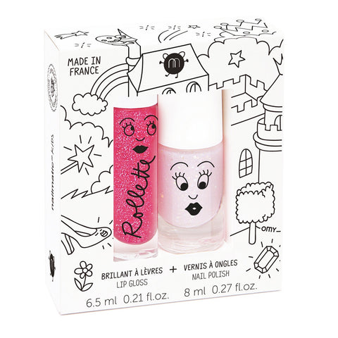 Nailmatic Kids Lip Gloss & Nail Polish Gift Pack (2pcs) fairy tales