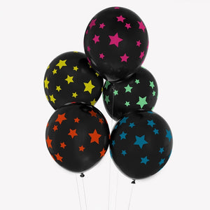My Little Day tattooed balloons - disco stars
