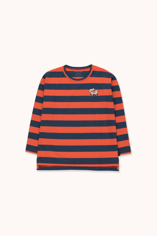 "TINYCOTTONS ""TINY FOX"" STRIPES TEE"