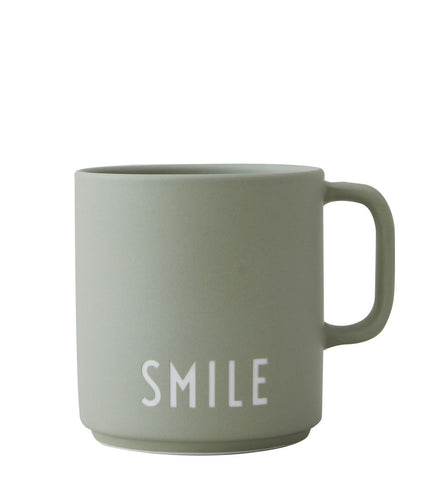 Design Letters Favourite Cup with Handle green