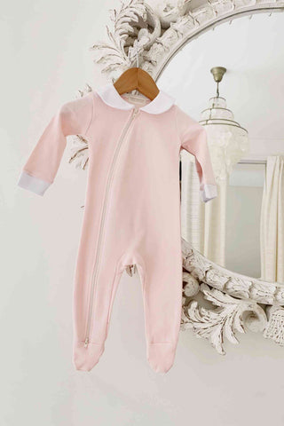 BAMBINO AND BUNDLES Peter Pan Jumpsuit - Pink