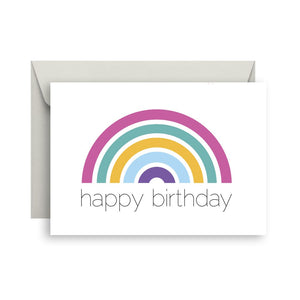 Sprout and Sparrow Rainbow Birthday Card
