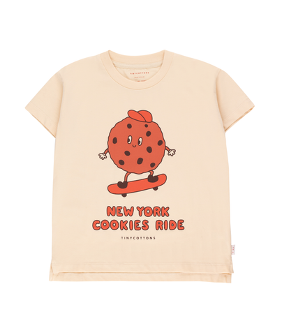 "TINYCOTTONS ""COOKIE RIDE"" TEE *cream/brown*"