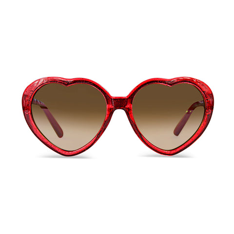 MILK X SODA LINDA SUNGLASSES RED