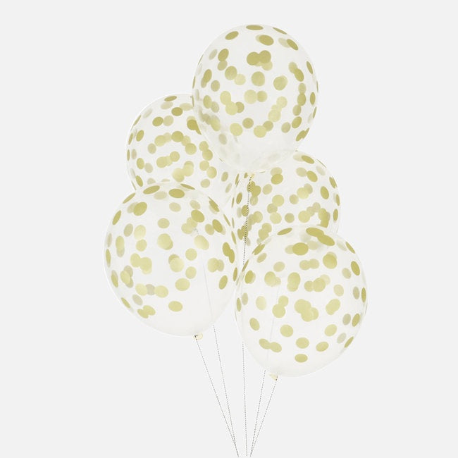 My Little Day printed confetti balloons - golden