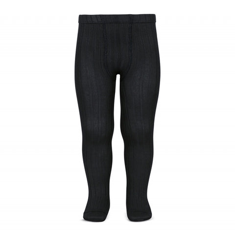 Condor BASIC RIB TIGHTS BLACK ribbed tight 900