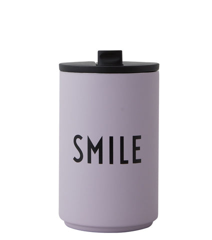 Design Letters  Thermo Cup Smile lavender