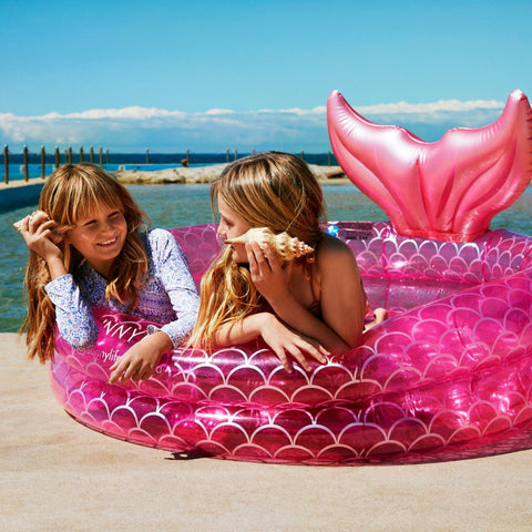 SUNNYLIFE INFLATABLE BACKYARD POOL | MERMAID