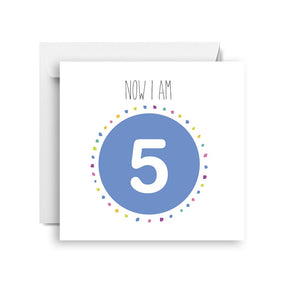 Sprout and Sparrow Five- fifth birthday card (small)