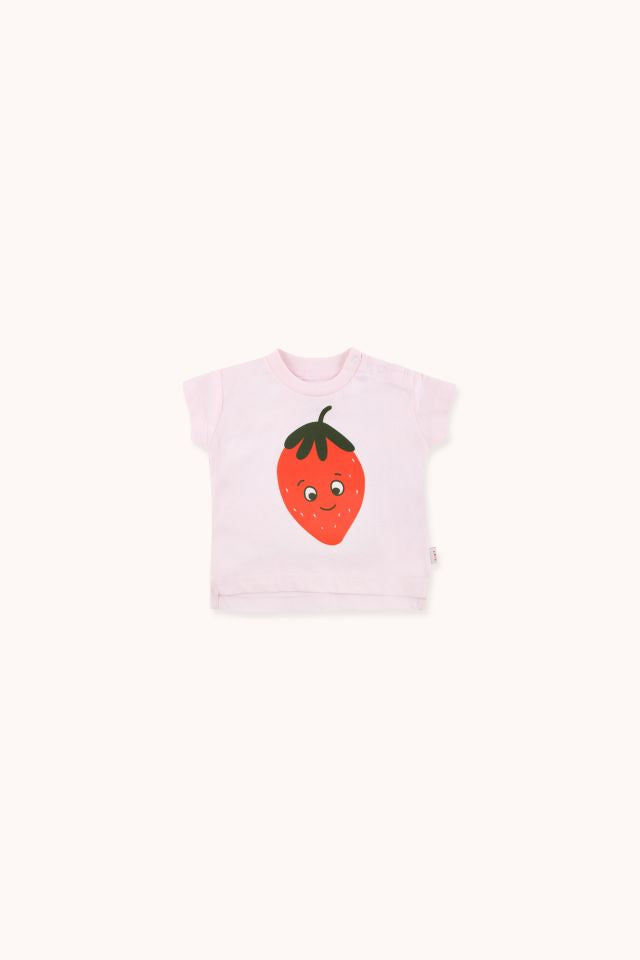 "TINYCOTTONS ""STRAWBERRY"" TEE BABY"