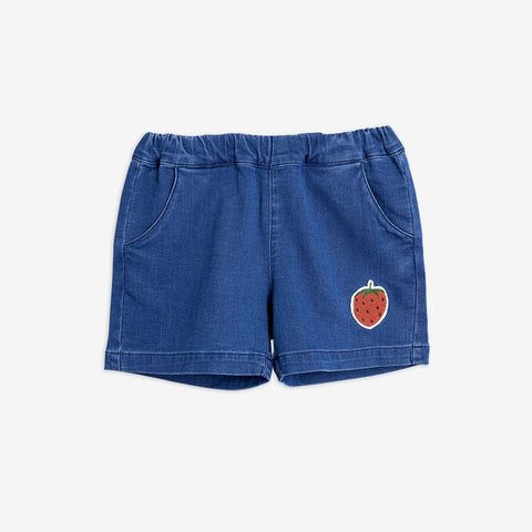 MINI RODINI STRAWBERRY DENIM SHORTS
