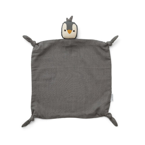Liewood  Agnete Cuddle Cloth - Penguin stone grey