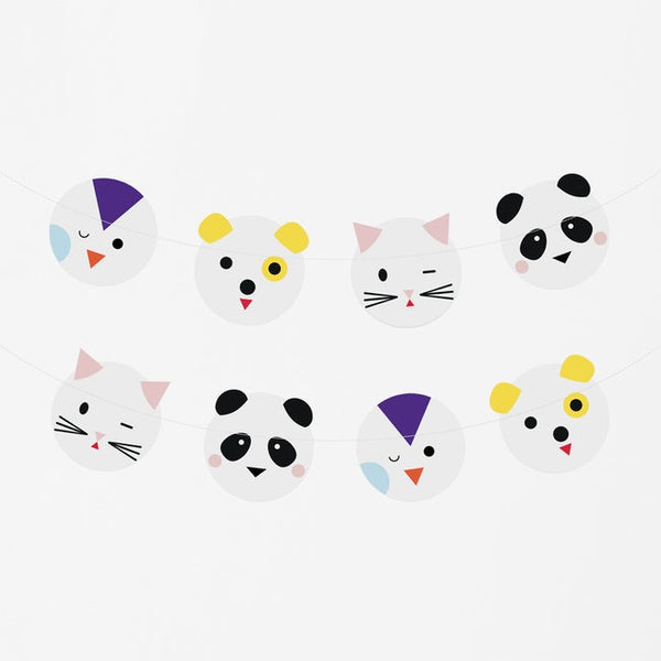 My Little Day  paper garland - mini animals