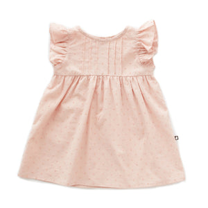 OEUF NYC Swiss Dot Dress Light Pink