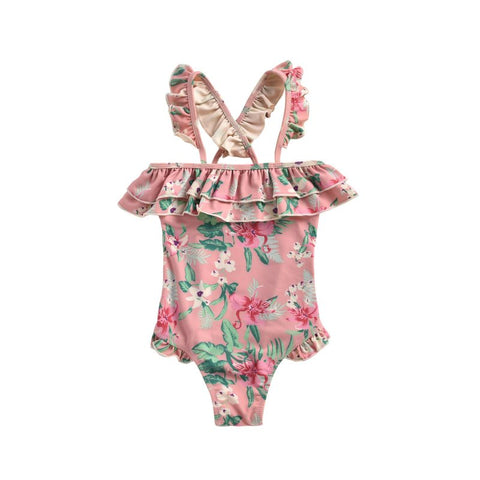 LOUISE MISHA Bathing Suit Zacatecas Sienna Flamingo BABY AND KIDS SWIMSUIT
