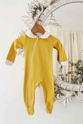 BAMBINO AND BUNDLES Peter Pan Jumpsuit - Sunshine