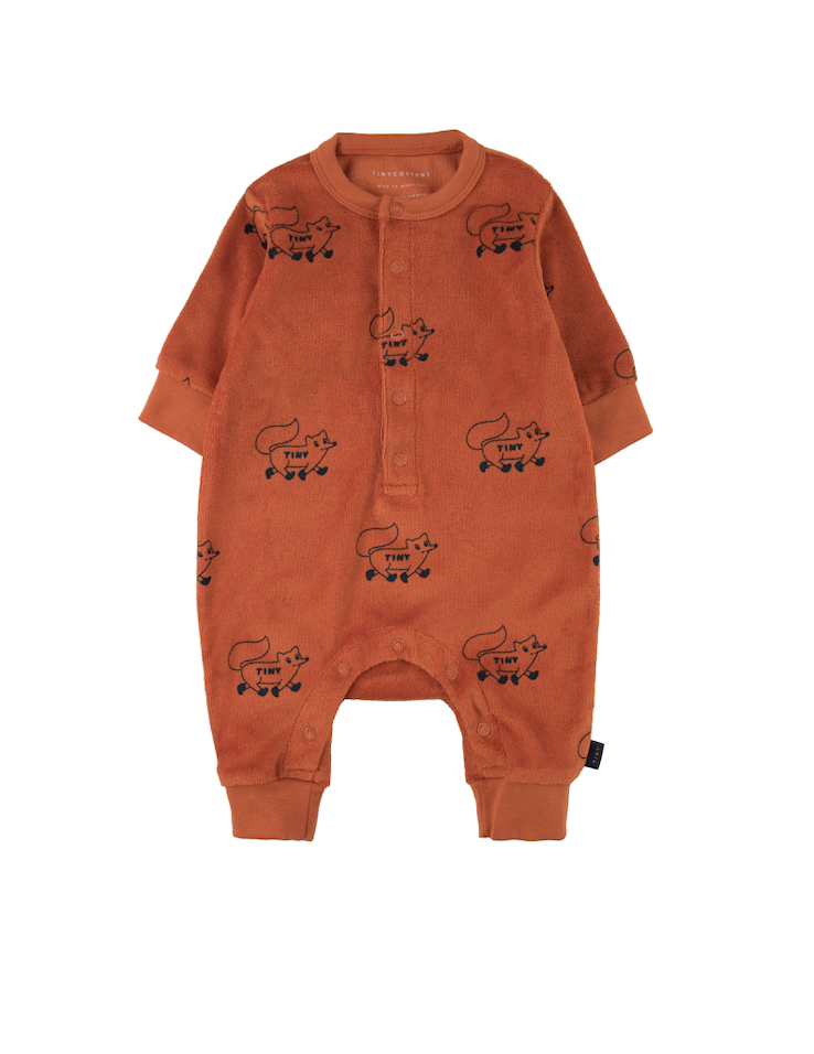 "TINYCOTTONS ""FOXES"" ONE-PIECE *sienna/navy*"