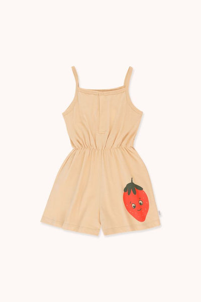 "TINYCOTTONS ""STRAWBERRY"" ROMPER"