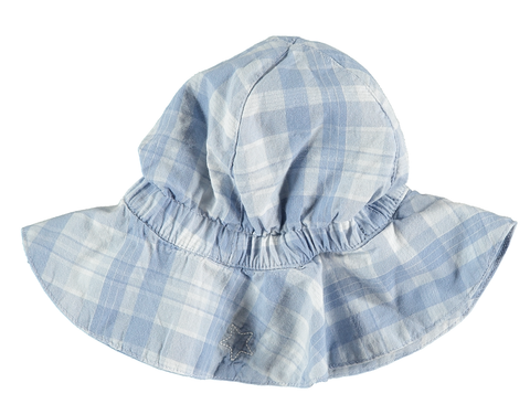TOCOTO VINTAGE CHECKED DENIM HAT