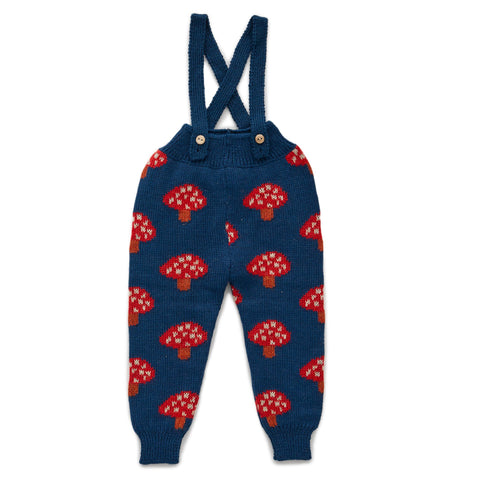OEUF NYC Double Suspender Pants Indigo / Mushroom
