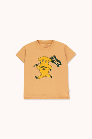 "TINYCOTTONS ""DOG"" TEE  camel/yellow"