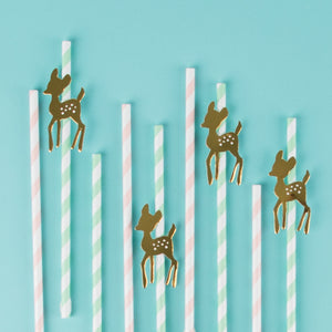 My Little Day 12 paper straws - golden fawn