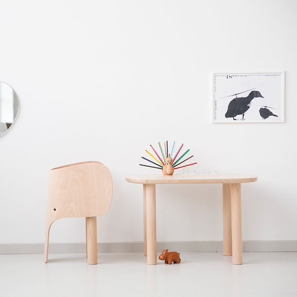 EO ELEPHANT CHAIR TABLE SET EO FURNITURE 2 ELEPHANT CHAIRS AND 1 TABLE SET