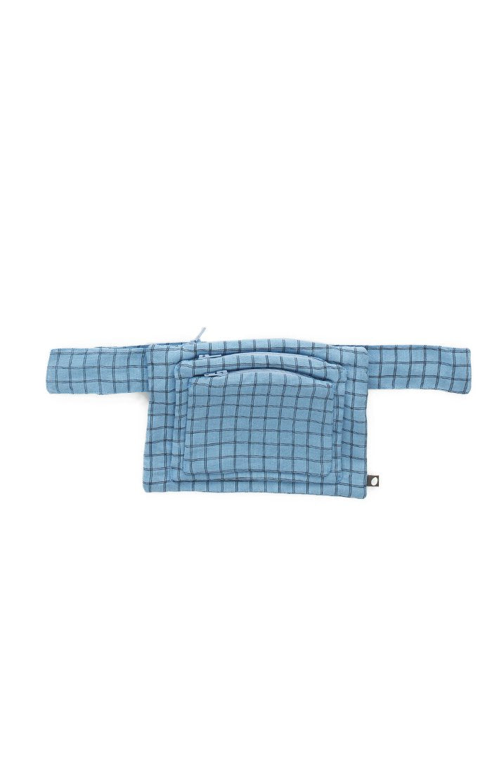 OEUF NYC Change Purse + Belt Blue Check