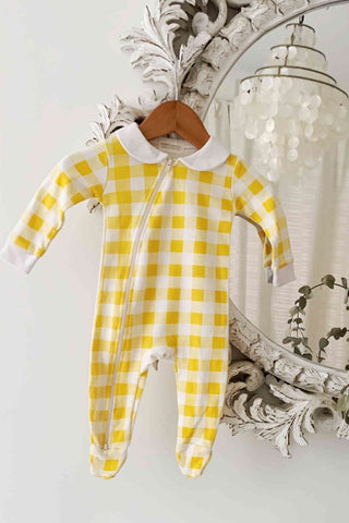 BAMBINO AND BUNDLES Peter Pan Jumpsuit - Checkered