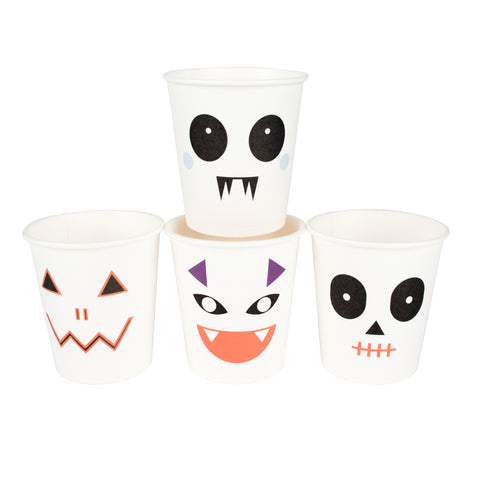 MY LITTLE DAY  8 paper cups - mini monsters