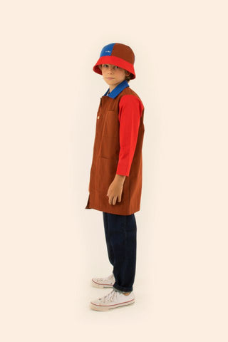TINYCOTTONS  TINY COLOR BLOCK BUCKET HAT RED