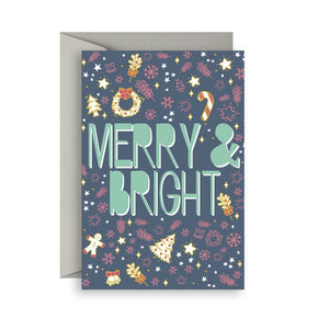 Sprout and Sparrow Merry & bright Christmas Card
