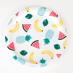 My Little Day paper plates - fruits