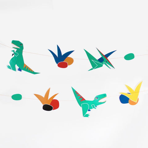 My Little Day paper garland - dinosaur