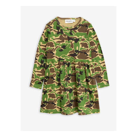 Mini Rodini CAMO LONG SLEEVE DRESS