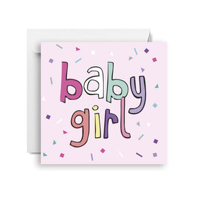 Sprout and Sparrow Baby girl confetti (small) Card