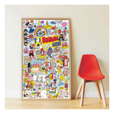 Poppik Discovery 100% English Sticker Poster