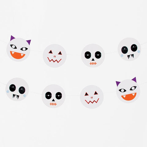 My Little Day  paper garland - mini monsters