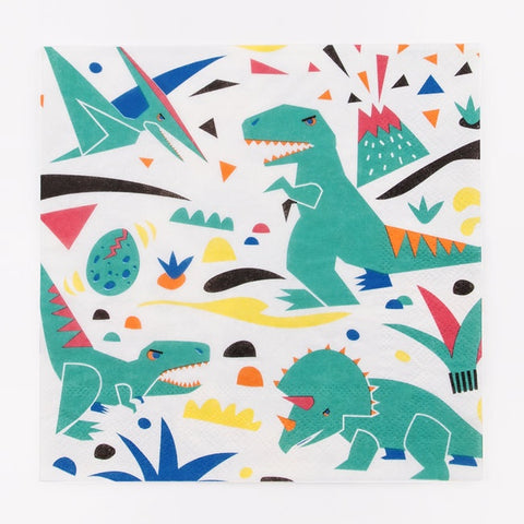 My Little Day  paper napkins - dinosaur