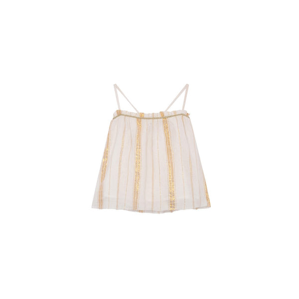 LOUISE MISHA WOMEN Top Cary White & Gold Stripes